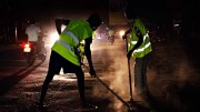 street sweeper clean city