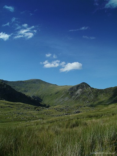 Looking back at part of the Carneddu range - Wales