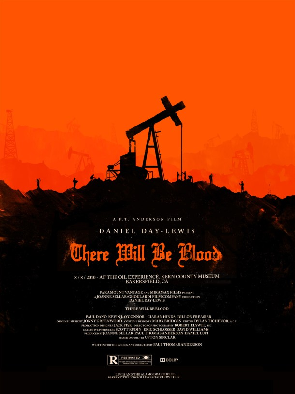 there Will Be Blood poster by Olly Moss
