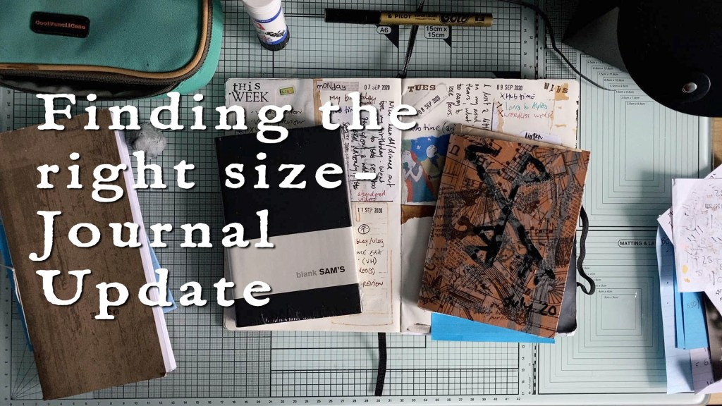 Finding the right size - journal update video cover