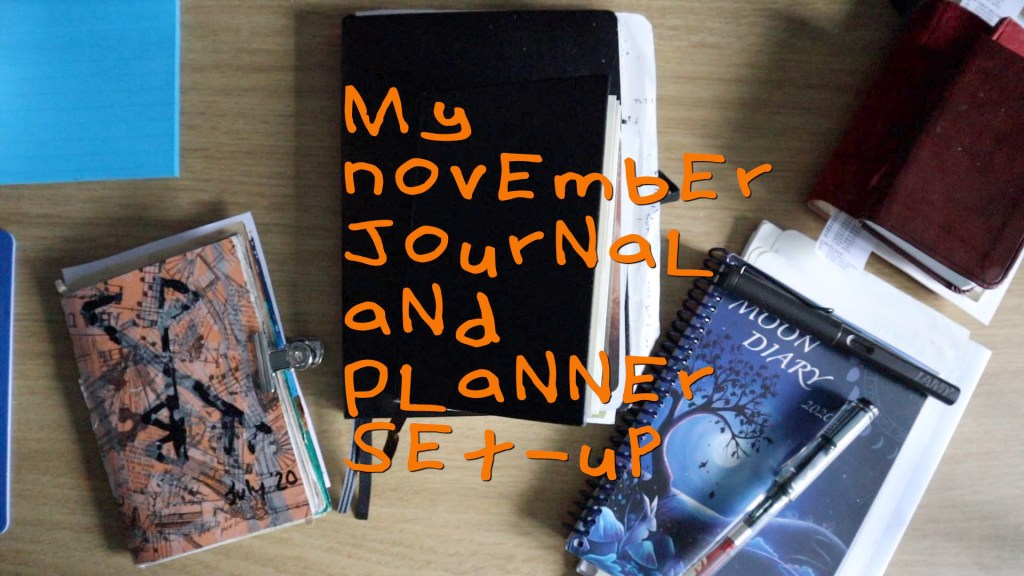 My November journal and planner set-up - images of my journals