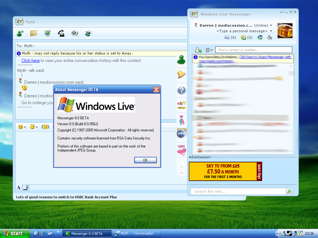 Windows Live Messenger 800562 released to testers
