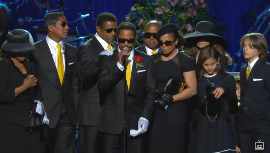Image result for kids at michael jackson funeral