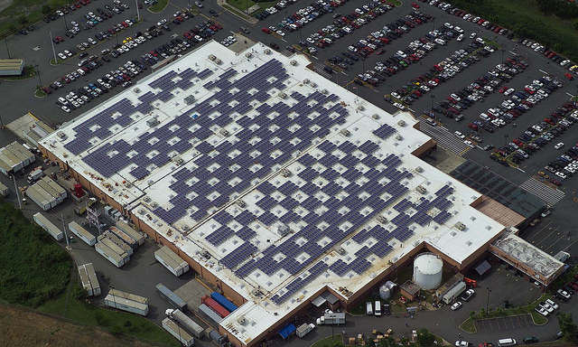 """Solar Panels on Caguas, Puerto Rico Walmart"" by Walmart on Flickr"