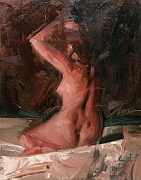 Sitting Nude, Alla Prima
