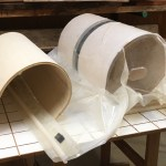 Creating a plywood substrate on the bending form
