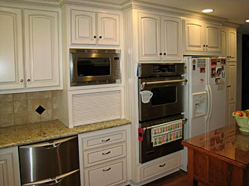 kitchen microwave cabinet ceramic sinks custom cabinets from darryn s serving stove