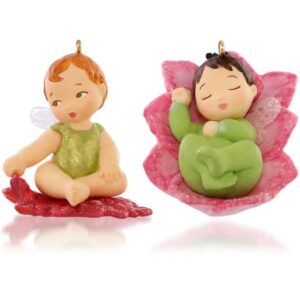 Lotus and Poinsettia Baby Fairy Messengers