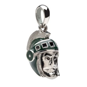 MSU Michigan State Sparty dangle bead