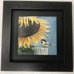 sunflower print (framed)