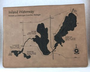 inland waterway leatherette notebook