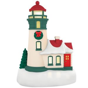Lighthouse Miniature Magic Light Hallmark Ornament