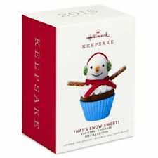 Limited Premiere Hallmark 2019 That's Snow Sweet Christmas Cupcake