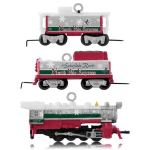 2014 LIONEL North Pole Express Miniature Hallmark Keepsake Ornament Set of 3