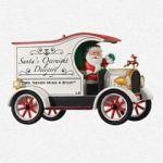 2013 Santa's Overnight Delivery Here Comes Santa Premiere Ornament