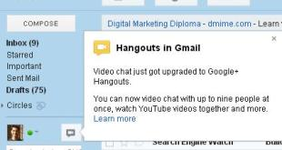 Hangouts in Gmail