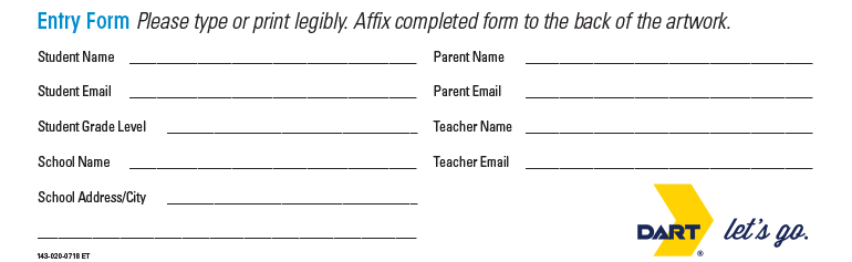 Click here to download a PDF version of this entry form