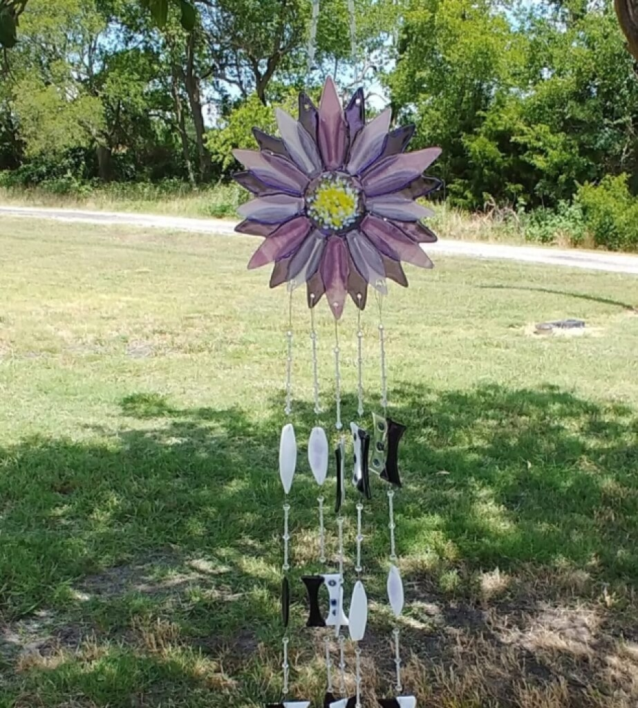Purple and Violet Wind Chime