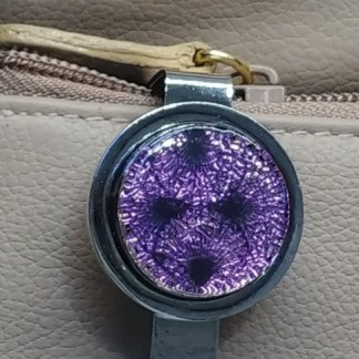 Magenta Dichroic Key Finder with Fans Pattern