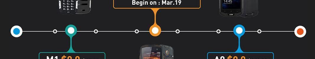 Promo: smartphone a 9,9 dollari dal 9 al 22 marzo