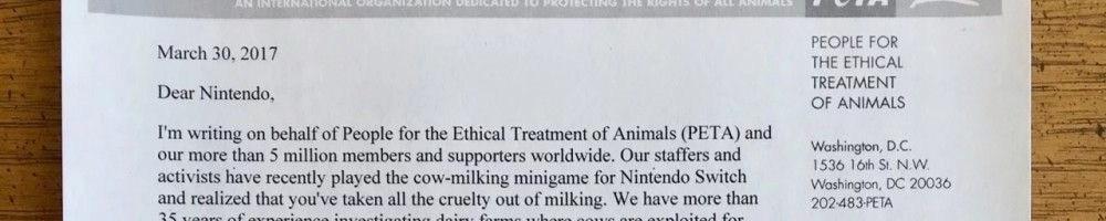 Battaglie animaliste inutili: il gruppo PETA se la prende con Nintendo ed il gioco 1-2 Switch