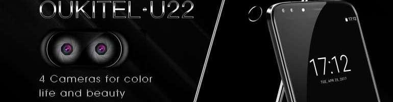 Oukitel U22: lo smartphone con ben 4 fotocamere