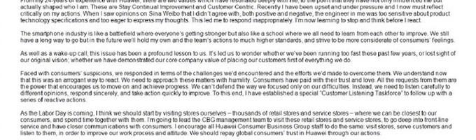 Problema memorie Huawei P10 e P10 Plus: il CEO spiega che l'azienda vuole farsi perdonare dai clienti