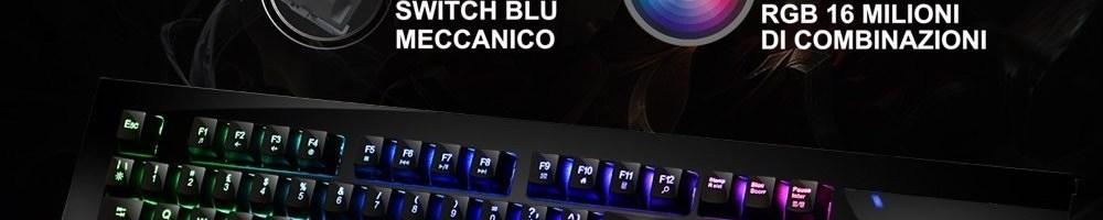 Recensione KLIM Domination: tastiera meccanica da gaming low-cost