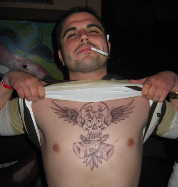 Jon Ward and his Darth Vato Booze Angel Tattoo