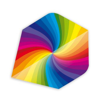 Rainbow Swirl Core 75 Darts Flights