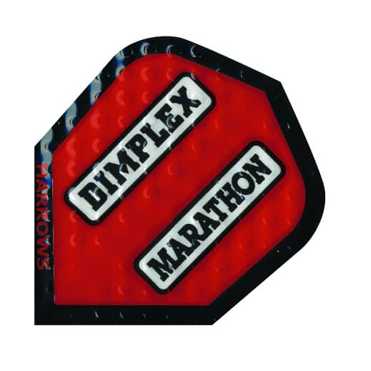 Harrows Marathon Dimplex Dart Flights - Red