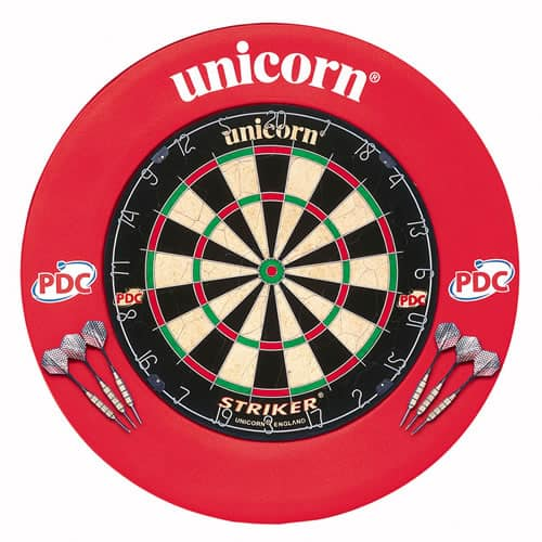Unicorn Striker Dartboard and Surround Darts Centre