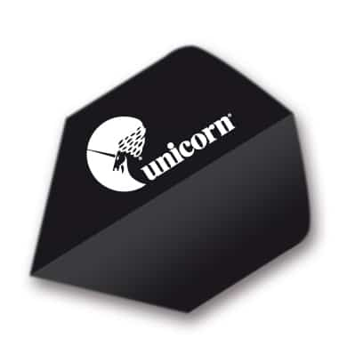 Unicorn Black Maestro Dart Flights - Big Wing