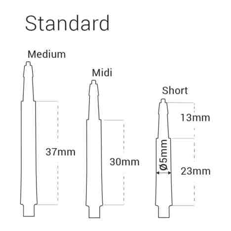 Harrows Clic Standard Black Dart Stems