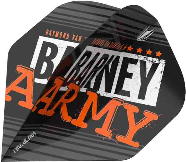 Target RVB Barney Army NO2 Black Pro Ultra Dart Flights