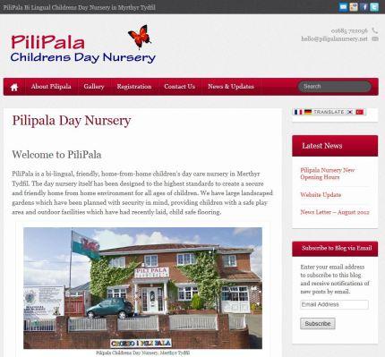 New Website for : PiliPala   Childrens Nursery in Merthyr Tydfil