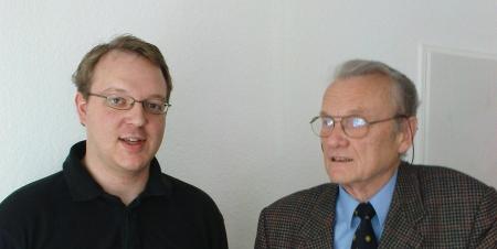 Meine Nichtswürdigkeit (links) und der Philosoph Norbert Hoerster (rechts)