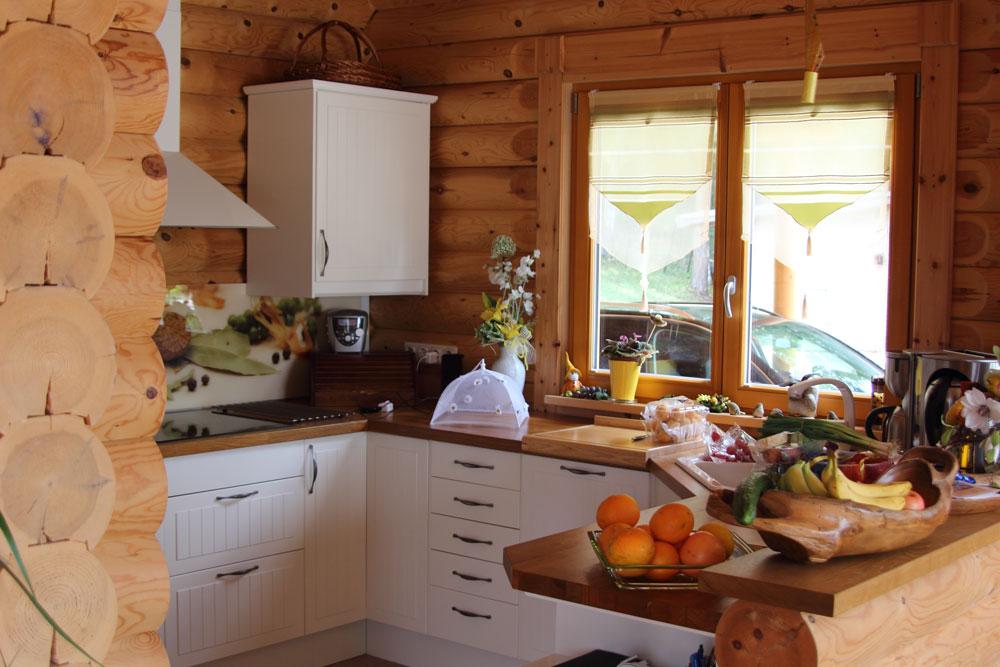 Die Inneneinrichtung eines Holzhausesdie Natrlichkeit