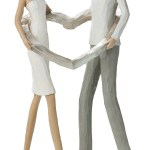 Deko Skulptur Paar Mit Herz 25 5x6x13 Cm Das Mittelmeerhaus