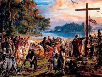 Christianisierung Polens 966, Gemälde Jan Matejko