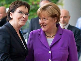 Bundeskanzlerin Merkel und die polnische Premierministerin Kopacz