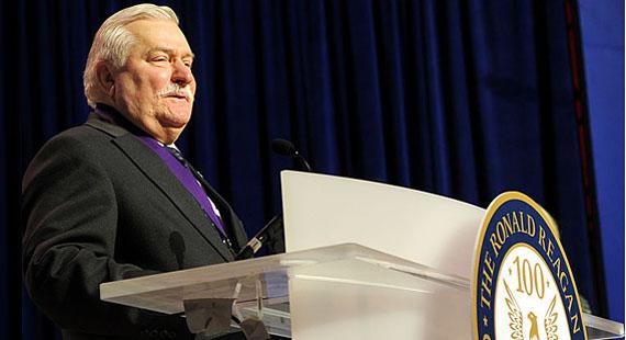 Lech Walesa, Friedensnobelpreisträger und Ex-Präsident Polens