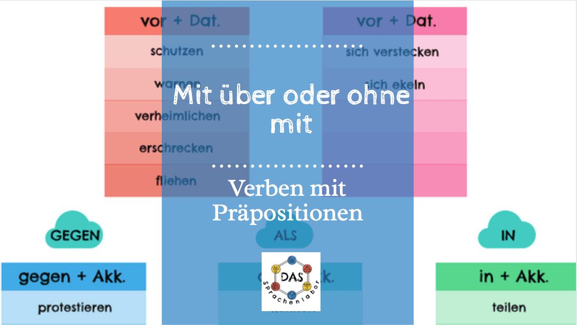 """Mit """"über"""" Oder Ohne """"mit"""": Verben Mit Präpositionen"""
