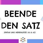 BEENDE DEN SATZ