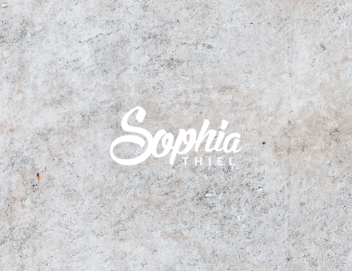 Sophia Thiel Sophia Thiel Corporate Identity Design Influencer Youtube