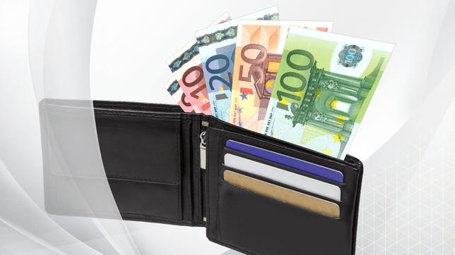 Grafik: Bargeld im Portemonnaie