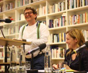 Anton G. Leitner und Dagmar Taylor. Foto: Jan-Eike Hornauer