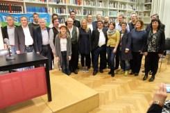 Die Lyrikerinnen und Lyriker der Premierenlesung. Foto: Maren Martell