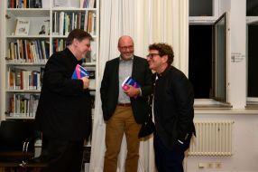 Alfons Schweiggert, Norbert Göttler und Anton G. Leitner. Foto: Volker Derlath