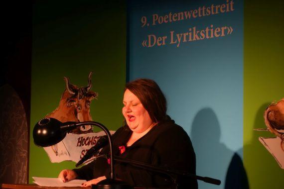 Leni Gwinner (3. Platz Publikumspreis). Foto: DAS GEDICHT